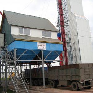 Строительство КЗС-50 с сушилкой ARAJ, Польша с горелкой на сжиженном газе, Воронежская область